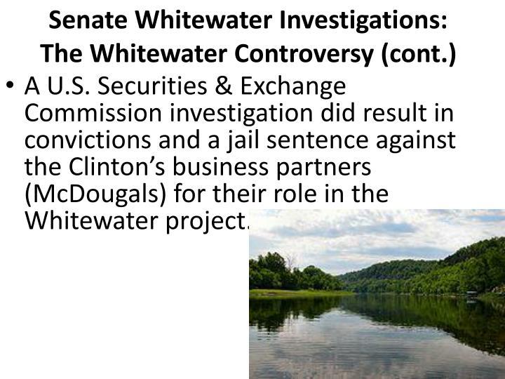 Senate Whitewater Investigations: