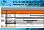 draft 2009 budget awp component 3 pages 24 25