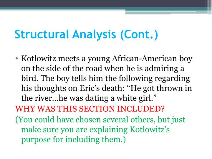 Structural Analysis (Cont.)