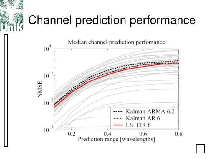 Channel prediction performance