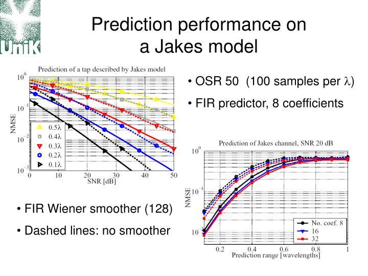 Prediction performance on