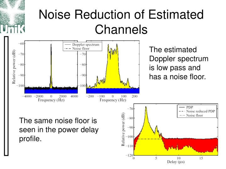 Noise Reduction of Estimated Channels