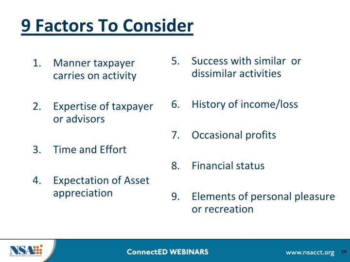 9 Factors To Consider