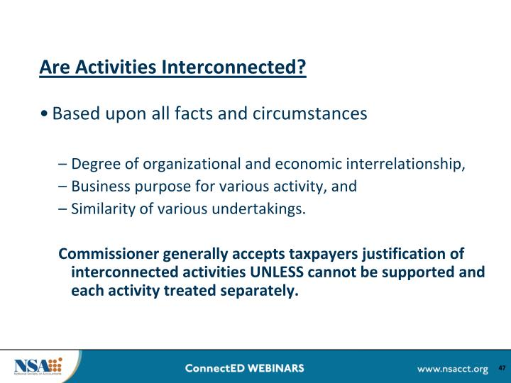 Are Activities Interconnected?
