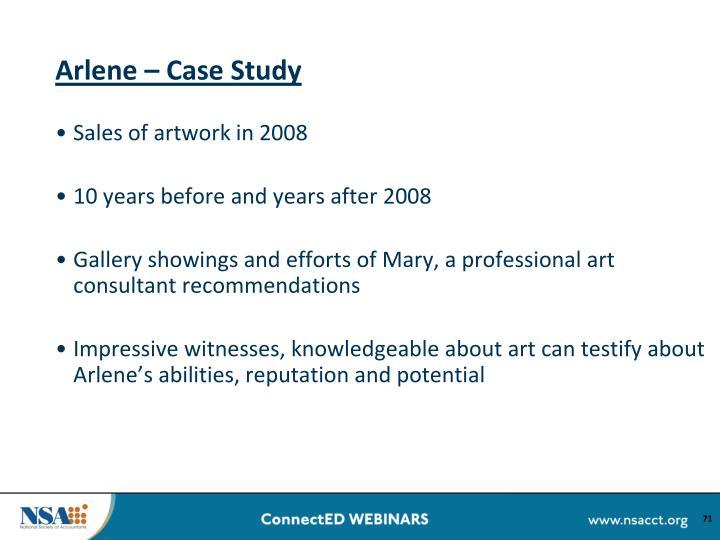 Arlene – Case Study
