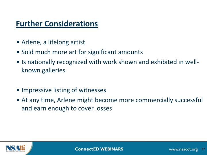 Further Considerations