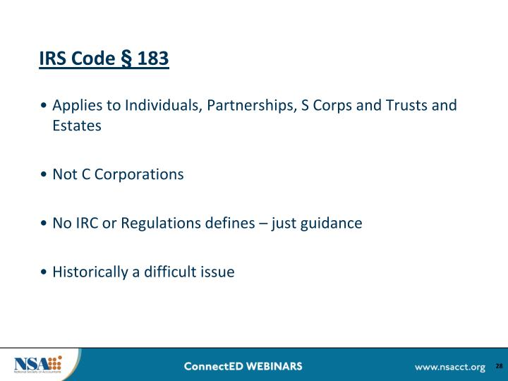IRS Code § 183