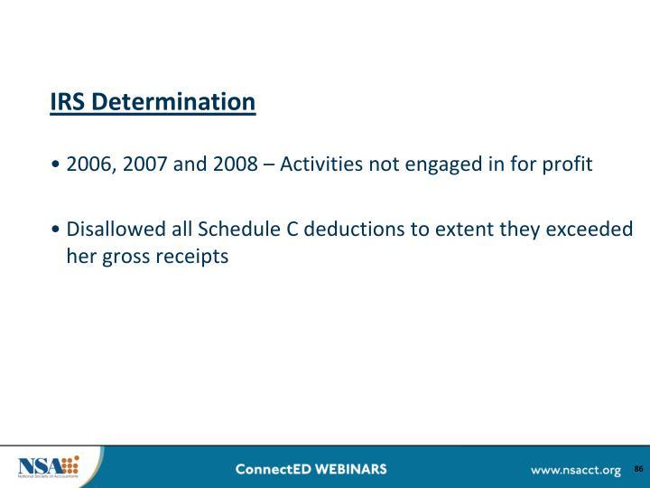 IRS Determination