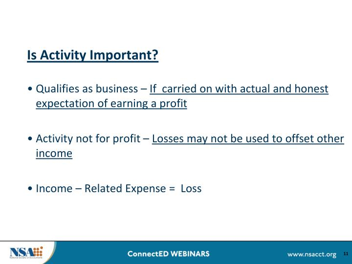 Is Activity Important?