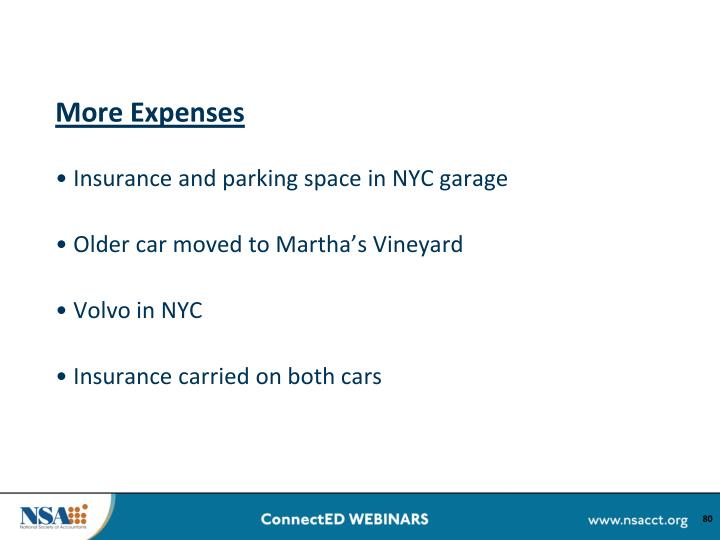 More Expenses