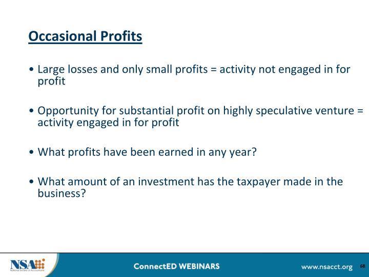 Occasional Profits