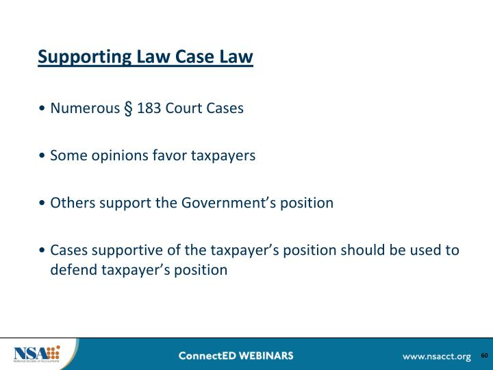 Supporting Law Case Law