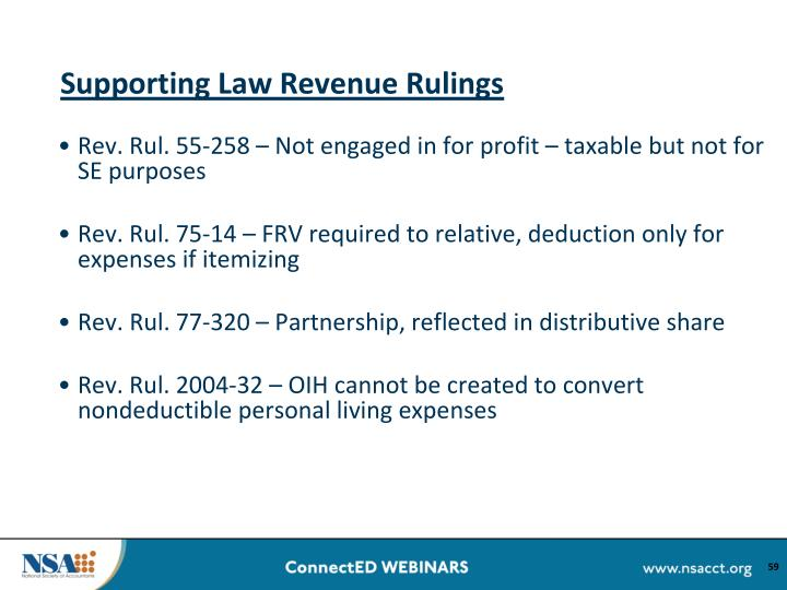 Supporting Law Revenue Rulings