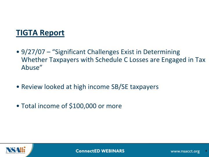 TIGTA Report