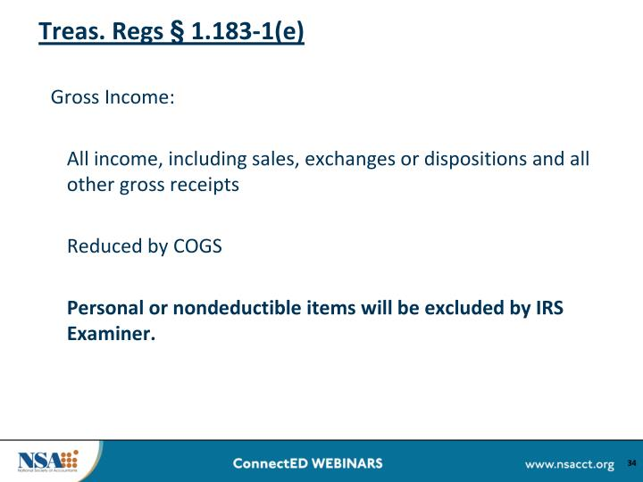 Treas. Regs § 1.183-1(e)