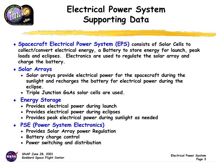 Electrical power system supporting data
