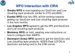 wfo interaction with cira