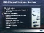 msrc general contractor services