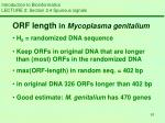 introduction to bioinformatics lecture 2 section 2 4 spurious signals7