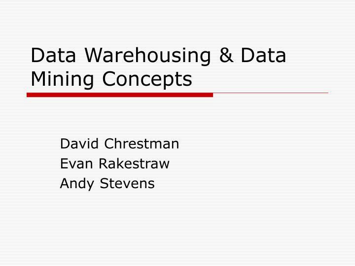 data warehousing data mining concepts n.