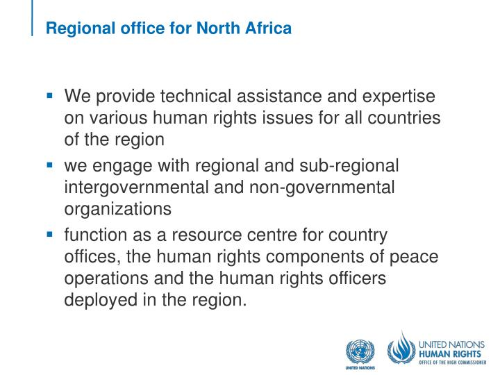 Regional office for north africa1