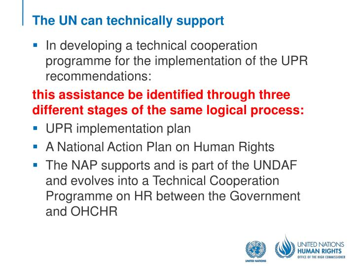 The UN can technically support