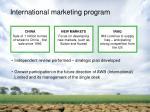 international marketing program