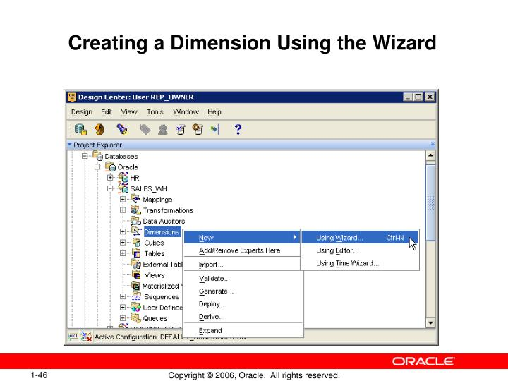 Creating a Dimension Using the Wizard