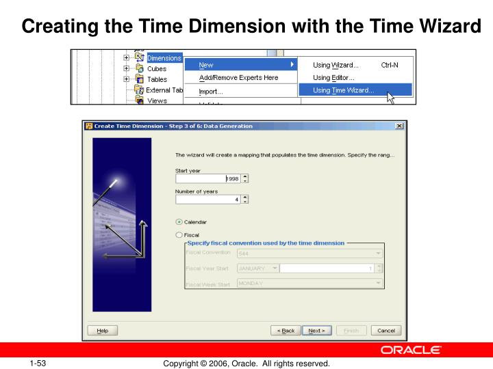 Creating the Time Dimension with the Time Wizard