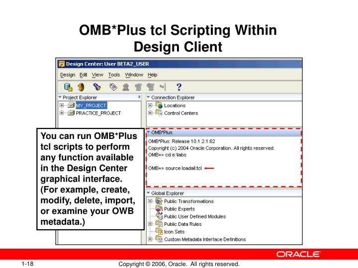 OMB*Plus tcl Scripting Within