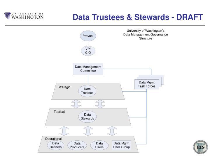 Data Trustees & Stewards - DRAFT
