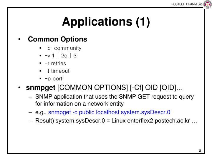 Applications (1)