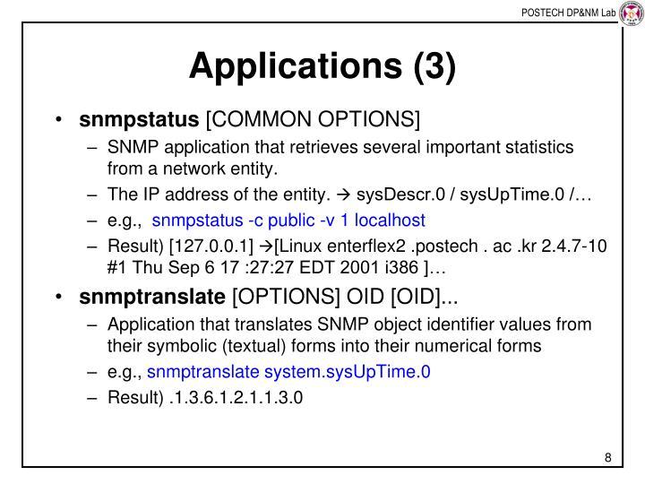 Applications (3)