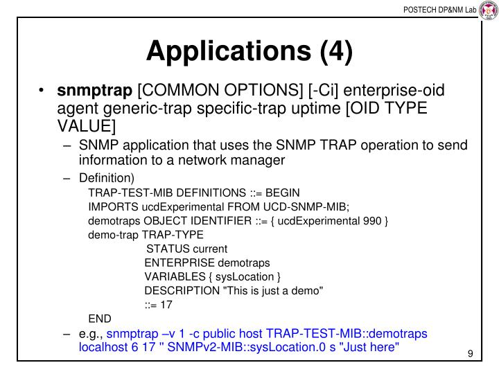 Applications (4)