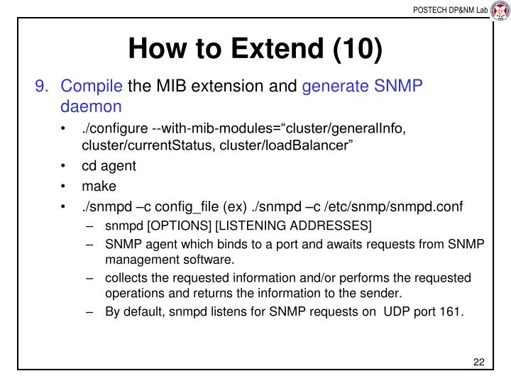 How to Extend (10)