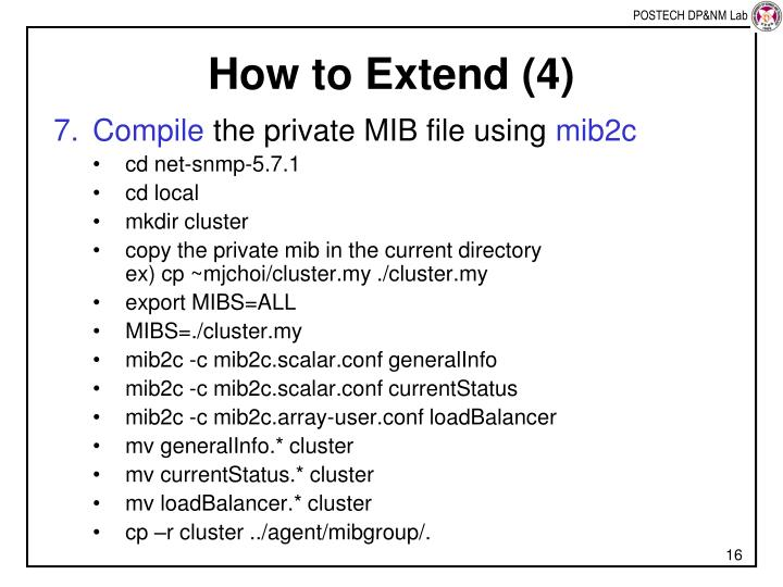 How to Extend (4)
