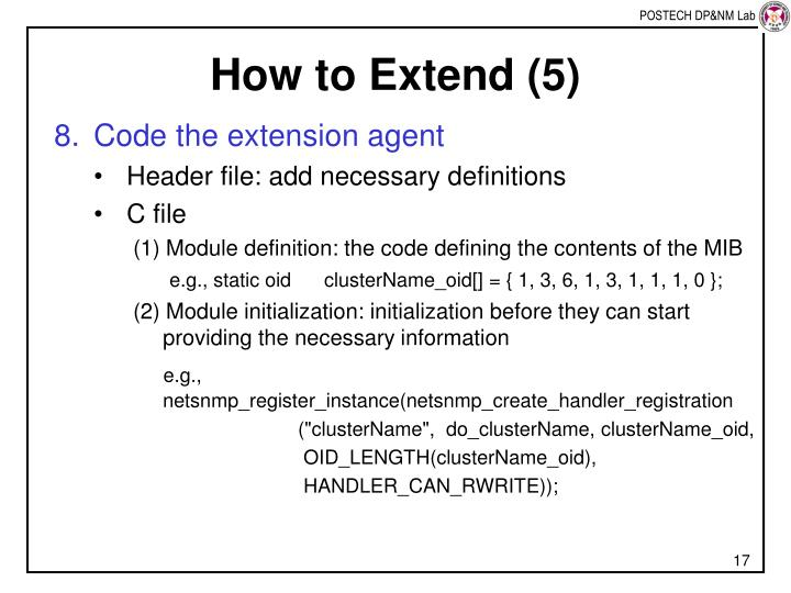 How to Extend (5)