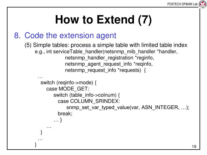 How to Extend (7)