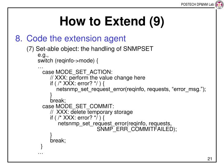 How to Extend (9)
