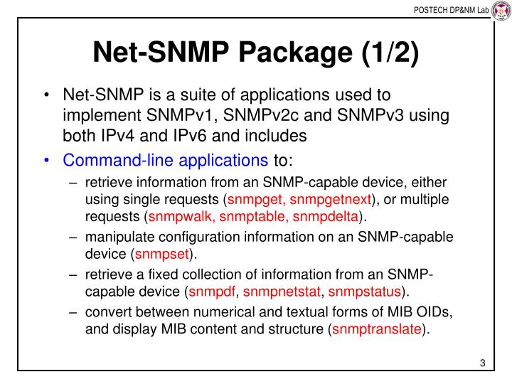 Net snmp package 1 2