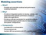 modeling assertions
