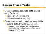 design phase tasks