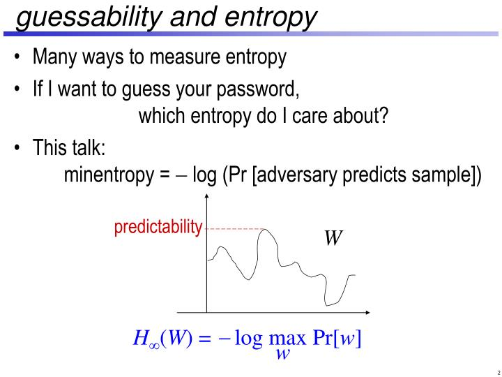 Guessability and entropy