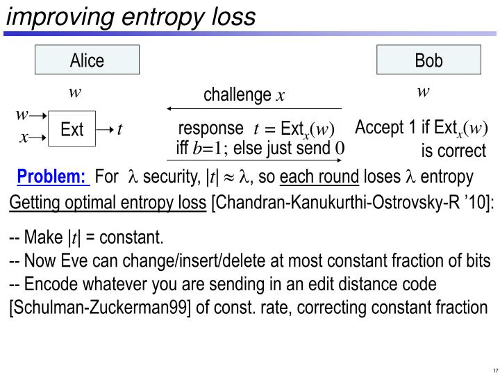 improving entropy loss