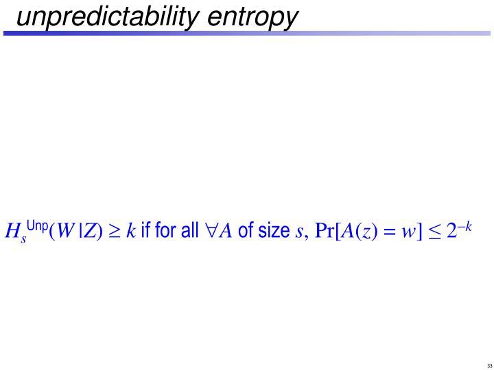 unpredictability entropy