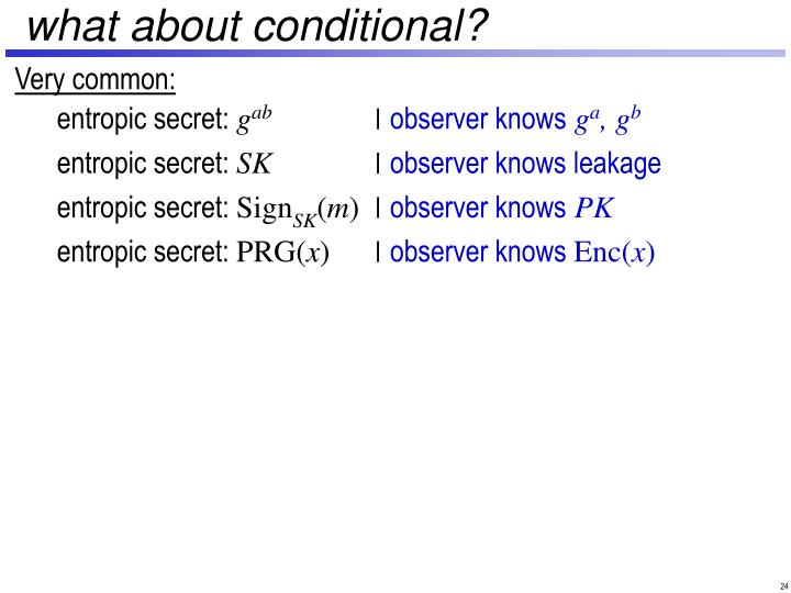 what about conditional?