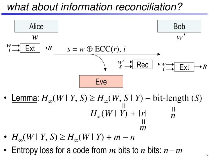 what about information reconciliation?