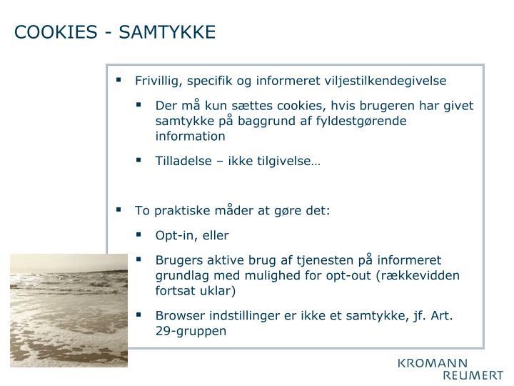 COOKIES - SAMTYKKE