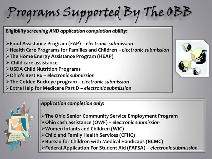 Programs Supported By The OBB