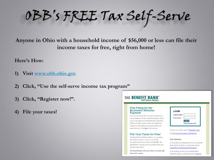 OBB's FREE Tax Self-Serve